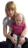 Jovem mulher com uma criança Fotografia de Stock Royalty Free