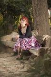 Jovem mulher do Pinup na roupa do estilo do vintage Imagens de Stock