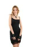 Jovem mulher em um vestido imagem de stock