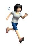 A jovem mulher está correndo Fotografia de Stock Royalty Free