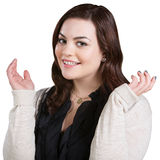 Jovem mulher entusiástica Fotos de Stock Royalty Free