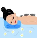 A jovem mulher faz massagens ilustração royalty free