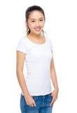 Jovem mulher feliz asiática fotografia de stock