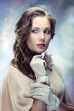 Jovem mulher glamoroso fotografia de stock