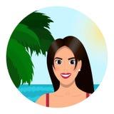 Jovem mulher na praia Imagem de Stock