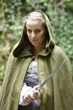 Jovem mulher no vestuário medieval Imagem de Stock Royalty Free