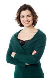Jovem mulher ocasional bonita no desgaste do inverno Imagens de Stock