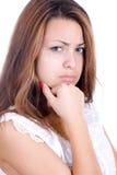 Jovem mulher ofendida Imagens de Stock