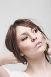 Jovem mulher pensativa de Beautfiul Imagem de Stock