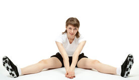 Jovem mulher que faz exercícios do esporte Fotografia de Stock Royalty Free