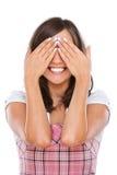 Jovem mulher que fecha seus olhos Foto de Stock Royalty Free