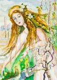 Os trabalhos da mola ilustração royalty free