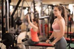 Jovem mulher que tem o exercício no gym Imagem de Stock