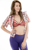 Jovem mulher 'sexy' atrativa que levanta em Pin Up Style Fotos de Stock