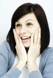 Jovem mulher surpreendida Fotografia de Stock Royalty Free