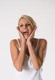 Jovem mulher surpreendida Foto de Stock Royalty Free