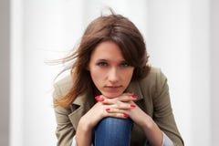 Jovem mulher triste Foto de Stock Royalty Free