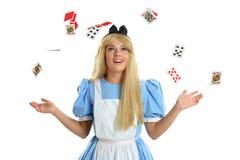 Jovem mulher vestida como o caráter da fantasia Imagens de Stock Royalty Free