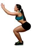 A jovem senhora atlética e tonificada dá certo Fotografia de Stock