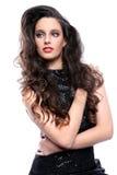 Jovem senhora bonita With Big Hair fotos de stock