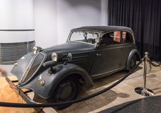 Joven 1938 de la pena de Stoewer en la exposición en el museo en Amman, la capital del coche de rey Abdullah II de Jordania imagenes de archivo