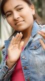 Joven femenino temeroso Imagen de archivo libre de regalías
