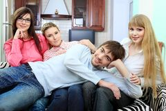 Jovens Imagem de Stock Royalty Free