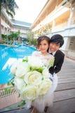 Jovens asiáticos bonitos Foto de Stock Royalty Free