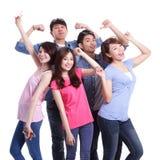 Jovens do grupo feliz Fotos de Stock Royalty Free