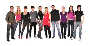 Jovens do grupo grande imagem de stock royalty free