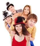 Jovens do grupo no partido. Fotos de Stock