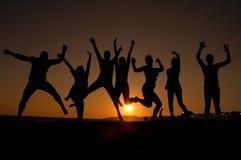 Jovens felizes Fotografia de Stock