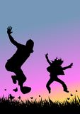 Jovens felizes Fotos de Stock Royalty Free