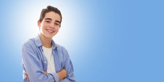 Jovens a formar isolado fotografia de stock royalty free