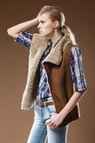 Jovens mulheres bonitas andróginos como homens bonitos Imagens de Stock Royalty Free