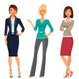 Jovens mulheres na roupa elegante do escritório ilustração royalty free