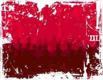 Jovens no fundo do grunge Imagens de Stock