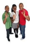 Jovens positivos foto de stock