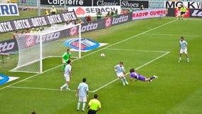 Jovetic Fiorentina Latium, serie A, Florence Italie Photographie stock libre de droits