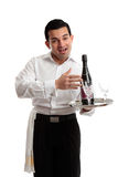 Joviaale kelner of barman Royalty-vrije Stock Foto