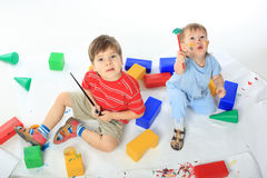 Jovial children Stock Photo