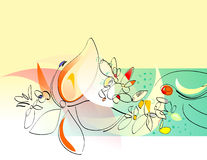 jowialną kolaż rozkwita wiosna Ilustracja Wektor