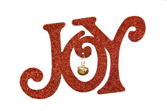 Joy. The word Joy in red letters against a white background Royalty Free Stock Photo