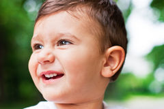 Joy. Portrait of a cheerful babyboy Royalty Free Stock Image