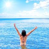 Joy. A joy on sky background Royalty Free Stock Image