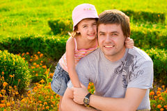 Joy. Father with his dother, in love Stock Image