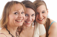 Joy. Mother and her two daughters Royalty Free Stock Photography