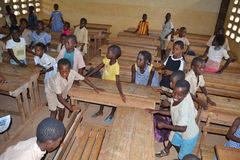 JOY OF AFRICAN CHILD IN THE CLASSROOM Royalty Free Stock Image