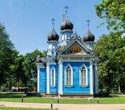 Joy Of All Who Sorrow-Kirche, Druskininkai Stockfotografie