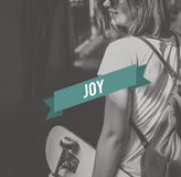 Joy Appreciate Enjoyment Life Concept Fotografía de archivo